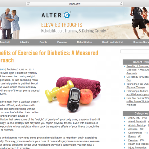 "Blog Post: ""Benefits of Exercise for Diabetics: A Measured Approach"""