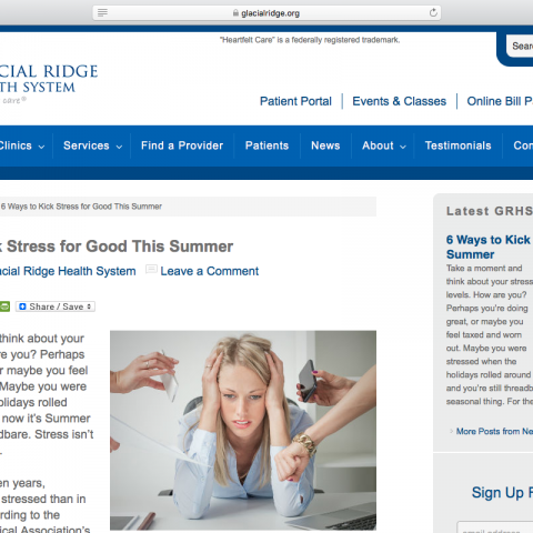 "Article: ""6 Ways to Kick Stress for Good this Summer"""