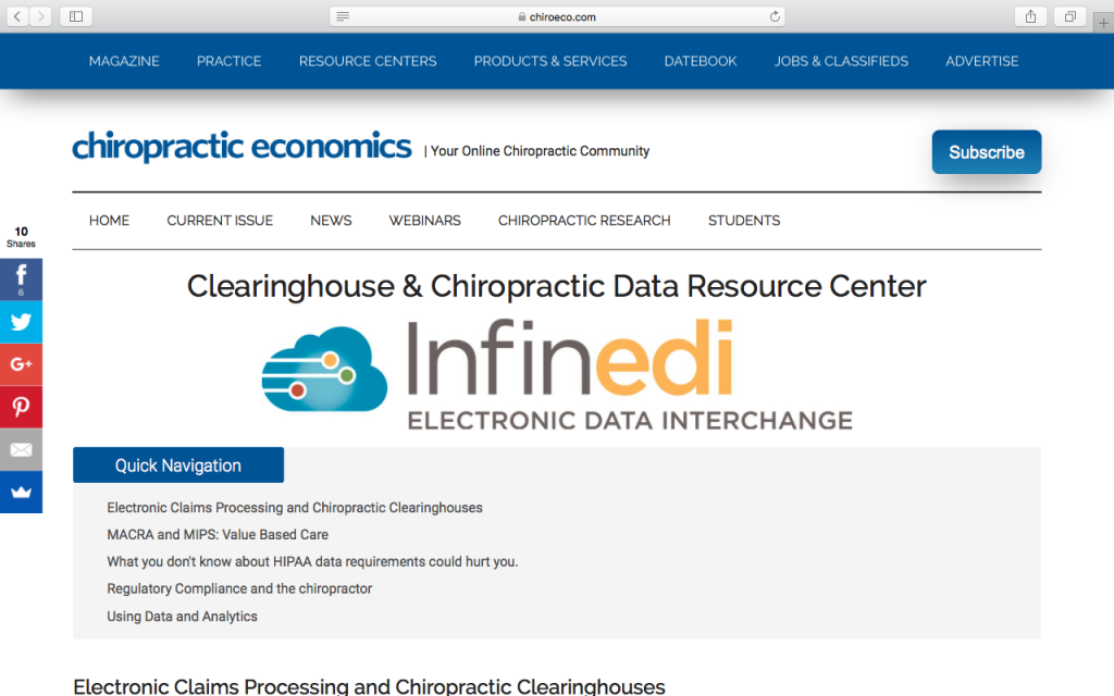 Interactive Ebook: Clearinghouse and Chiropractic Resource Center