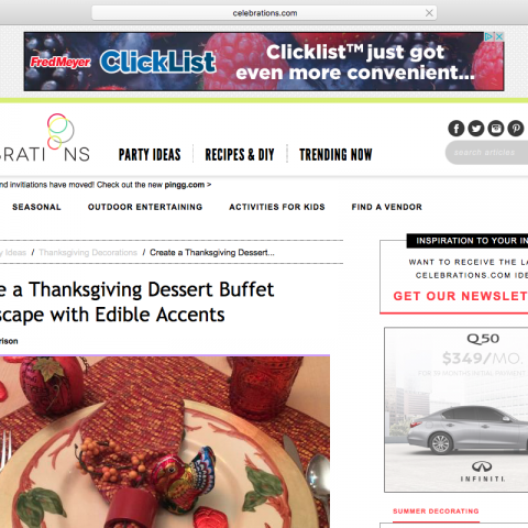 "Food Blog Post: ""Create A Thanksgiving Dessert Buffett Tablescape with Edible Accents"""
