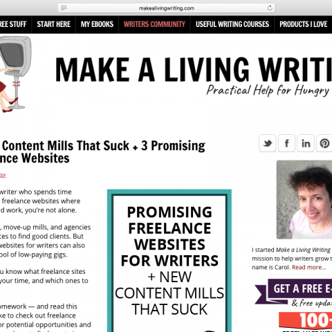 "Guest post: ""2 New Content Mills That Suck + 3 Promising Freelance Websites"