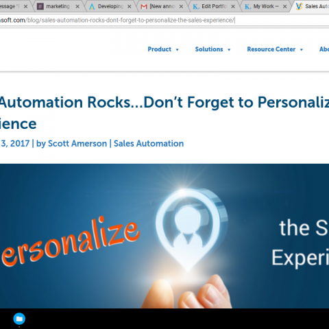 "Ghostwritten Authority Piece ""Sales Automation Rocks..."""