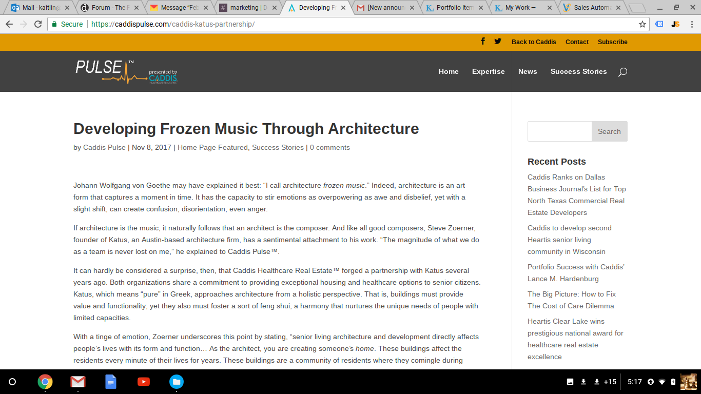 "Ghostwritten Blog Post: ""Developing Frozen Music Through Architecture"""