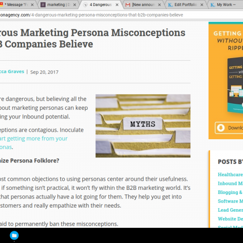 "Ghostwritten Authority Piece ""4 Dangerous Marketing Persona Misconceptions..."""