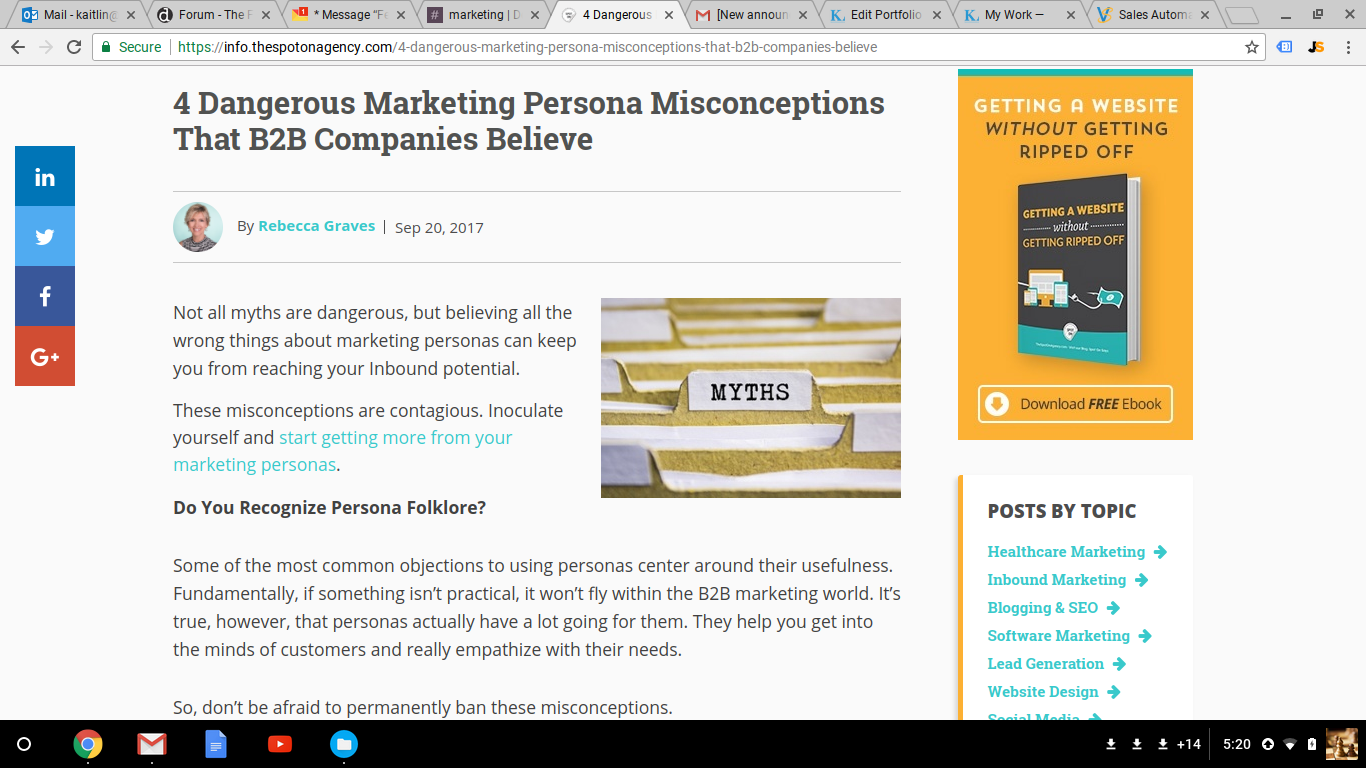 Blog Post: 4 Dangerous Marketing Persona Misconceptions that B2B Companies Believe