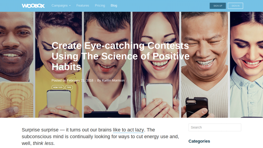 Blog Post: Create Eye-Catching Contests with the Science of Positive Habits