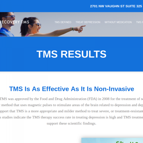 Website Copy for Active Recovery TMS
