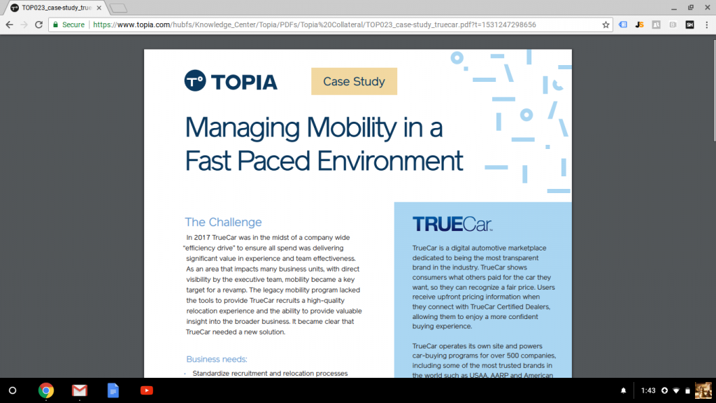 Case Study: Managing Mobility in a Fast Paced Environment