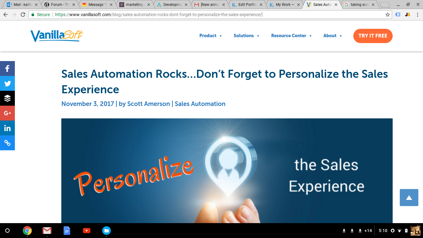 Blog Post: Sales Automation Rocks...Don't Forget to Personalize the Sales Experience