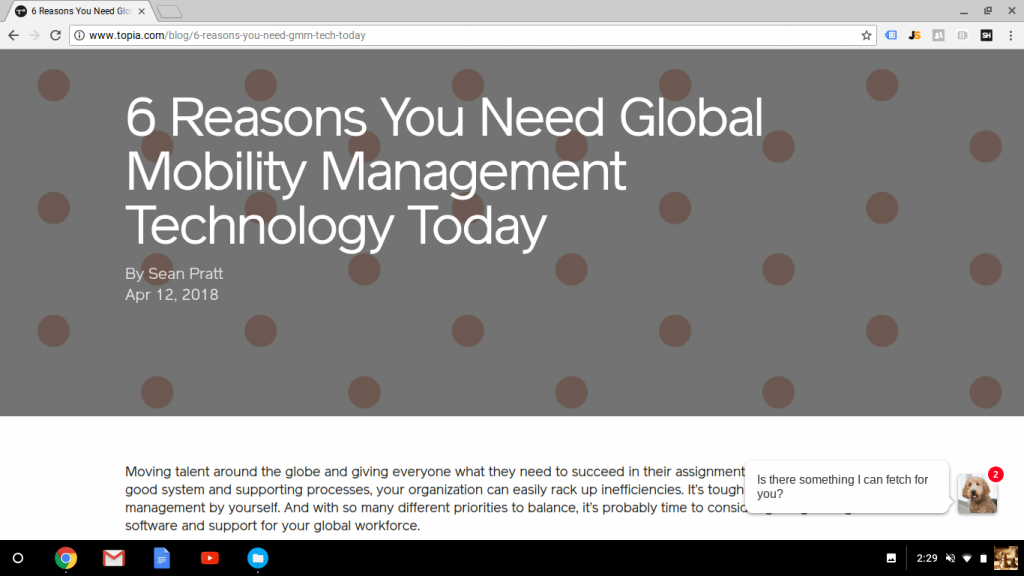 Blog Post: 6 Reasons You Need Global Mobility Management Technology Today