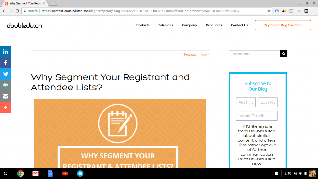 Blog Post: Why Should You Segment Your Attendee and Registrant Lists?