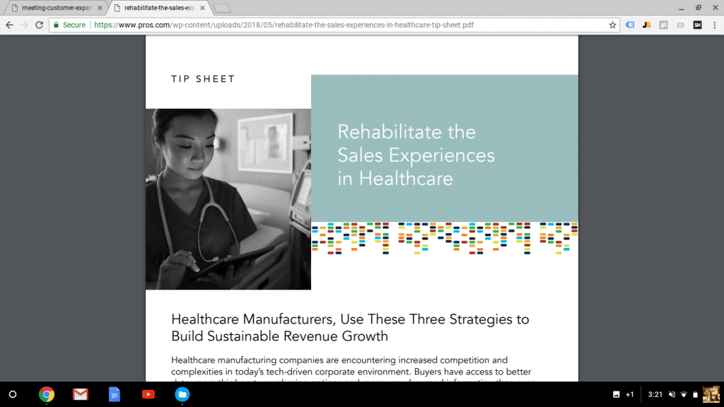Tip Sheet: Rehabilitate the Sales Experiences in Healthcare