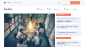 HubSpot blog main page