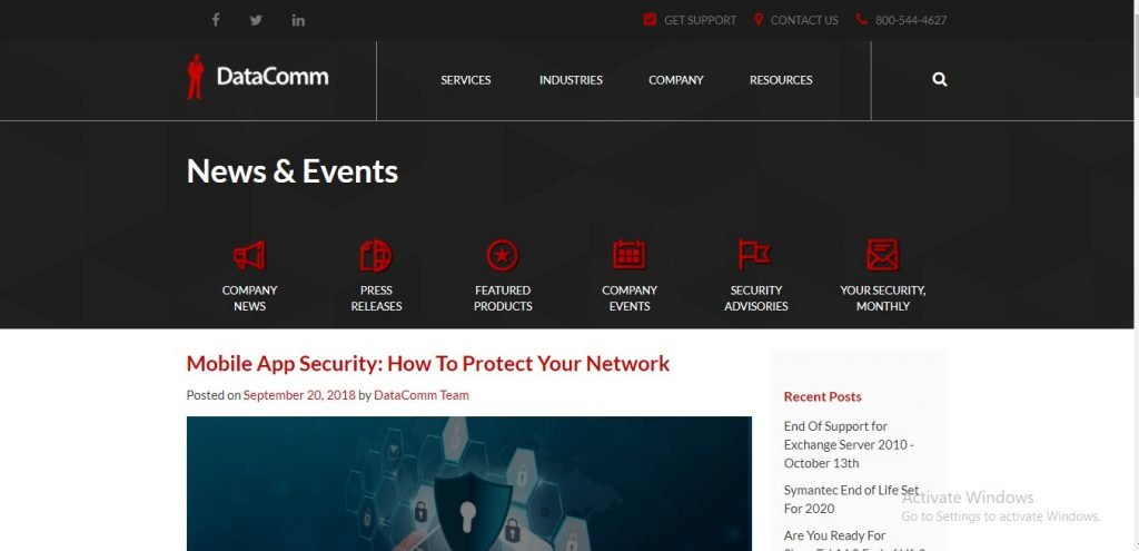 Placed Article (Mobile App Security: How To Protect Your Network)